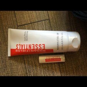 Body Moisturizer and Lip balm sunscreen R & F